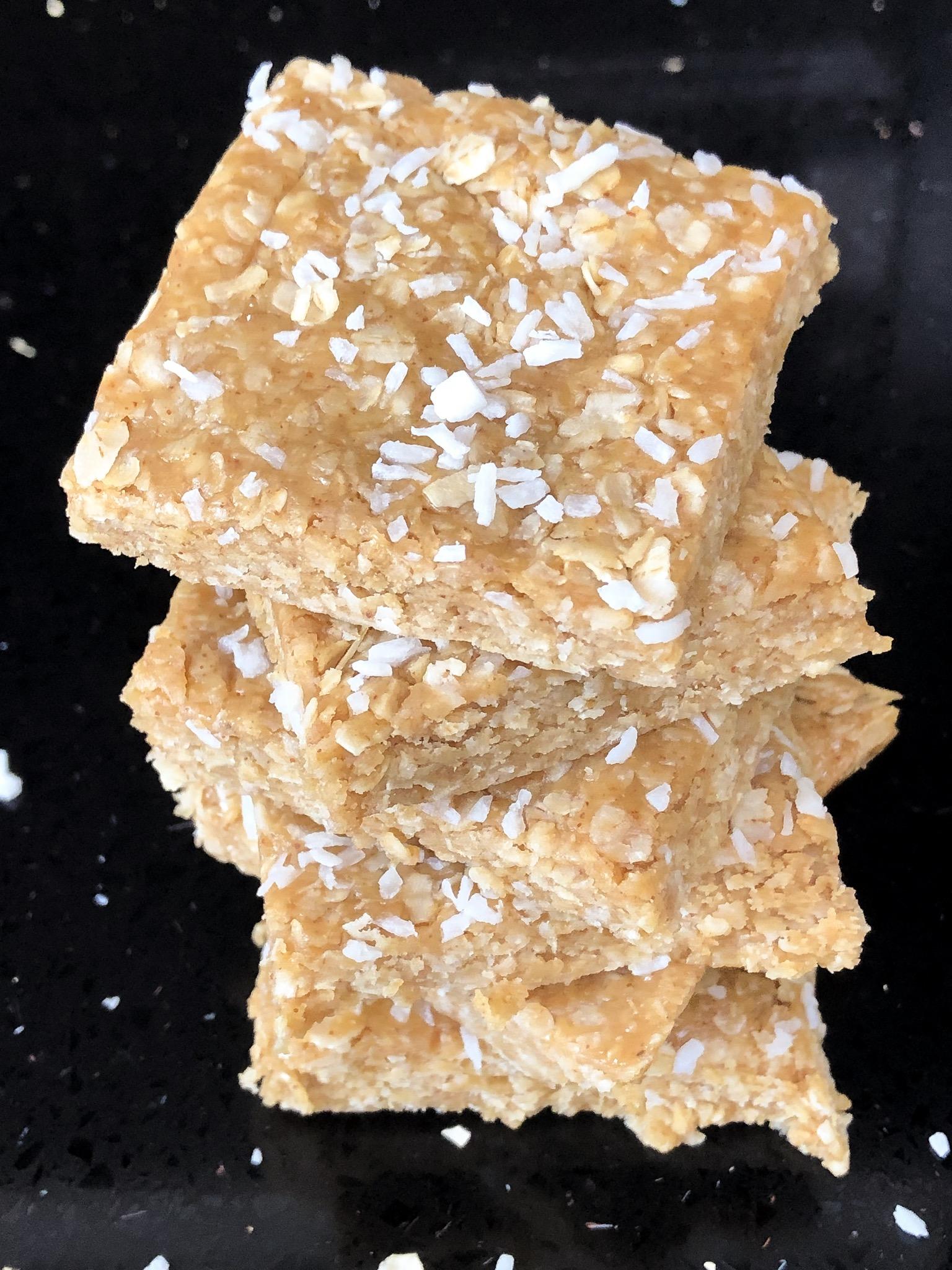 Peanut butter bars – No bake