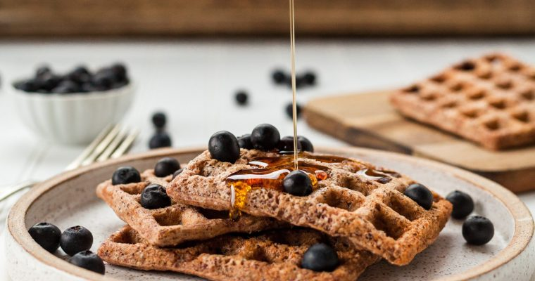 Wholegrain vegan waffles