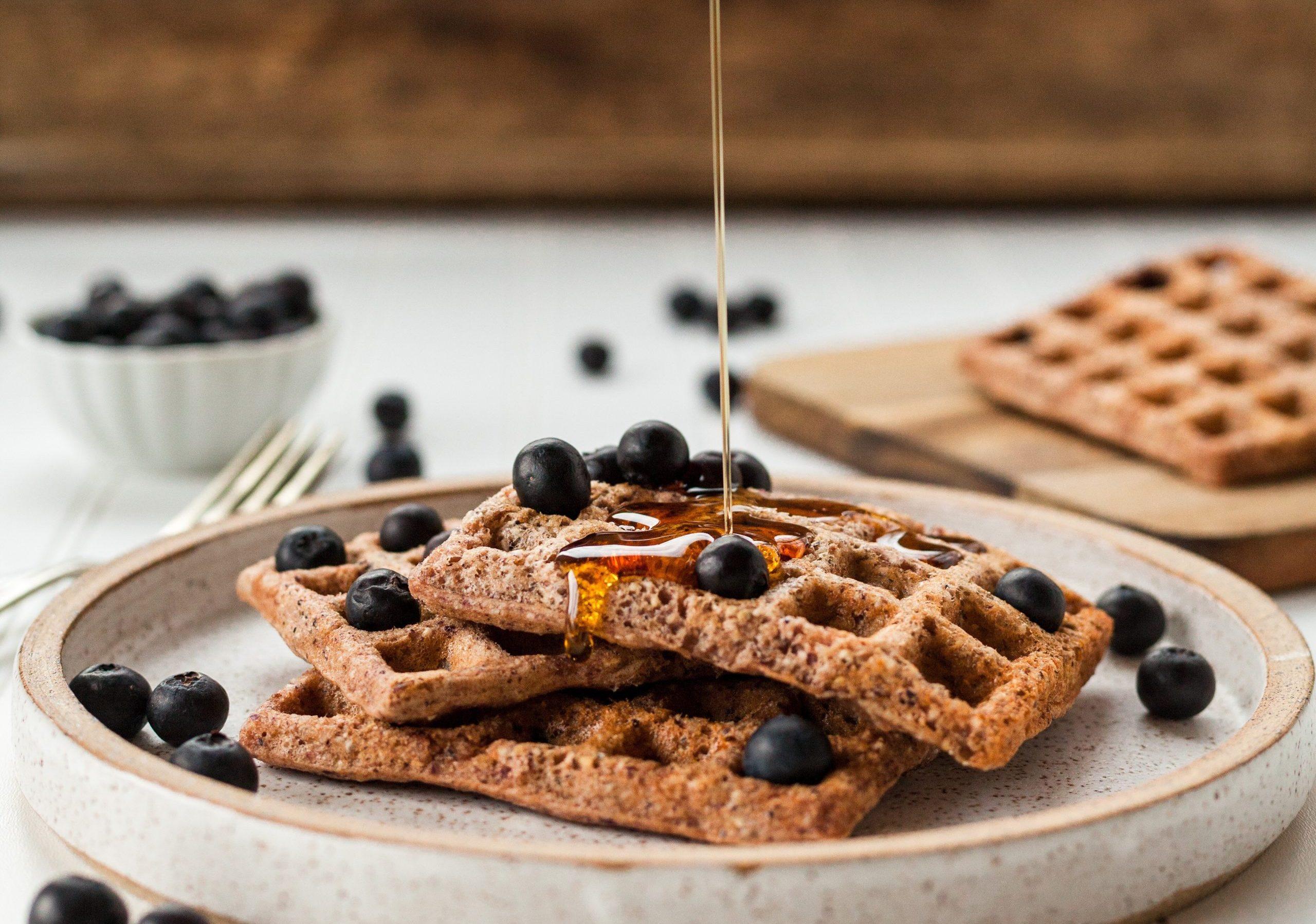 Wholegrain vegan waffles