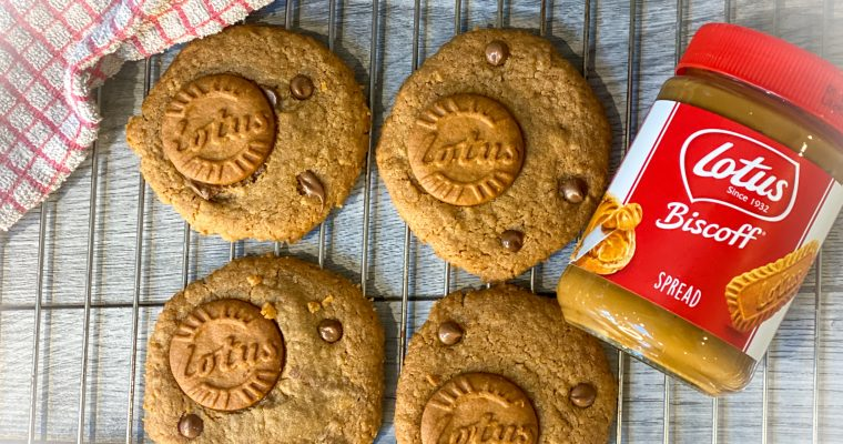 Biscoff Chocolate Chip Cookies | Eggless