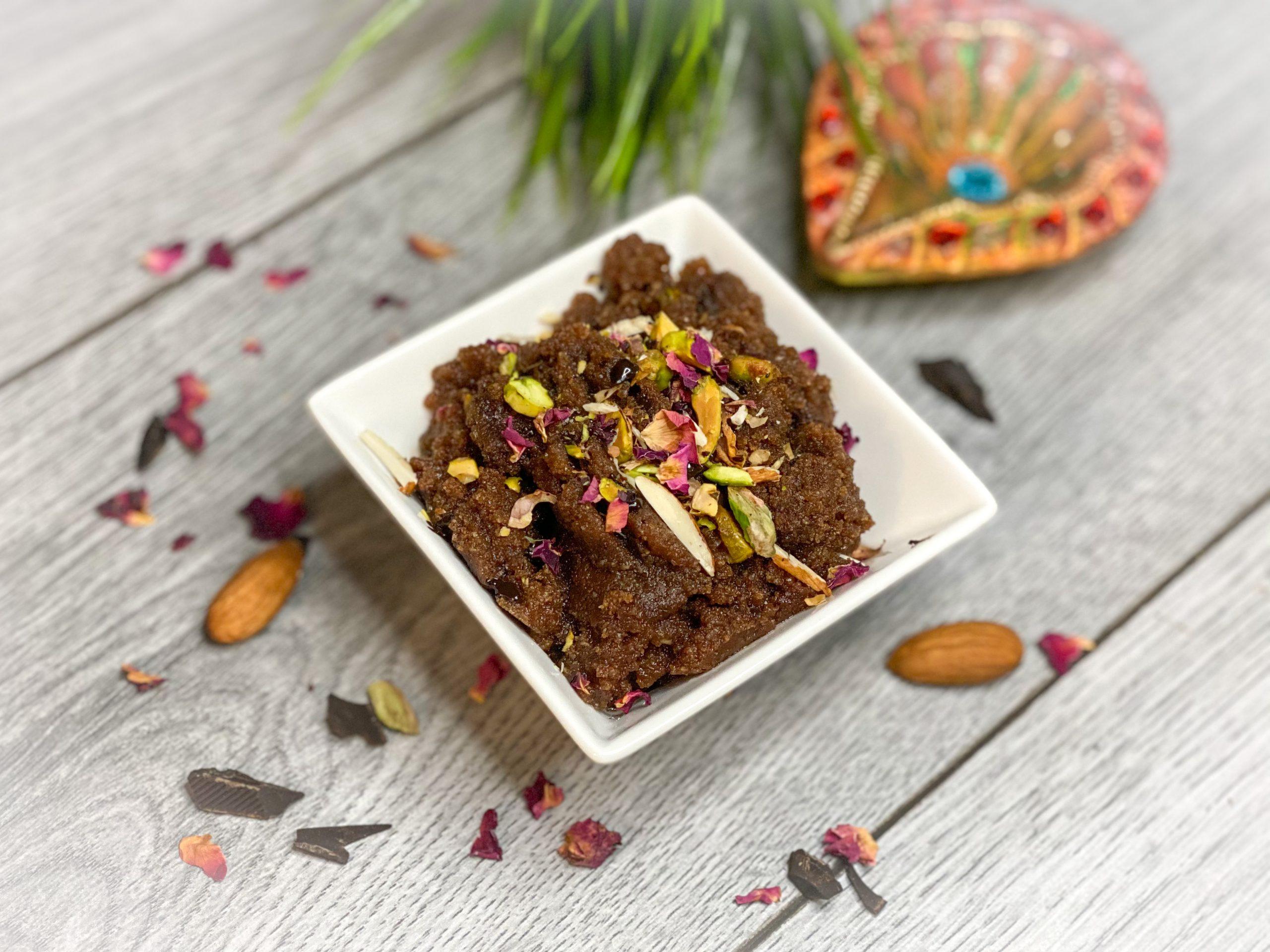 Almond Halwa || Keto || Gluten Free || Indian Sweet || Chocolate Halwa