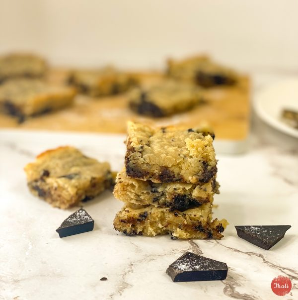 Cookie Squares | Low Carb | Peanut Butter | Chocolate