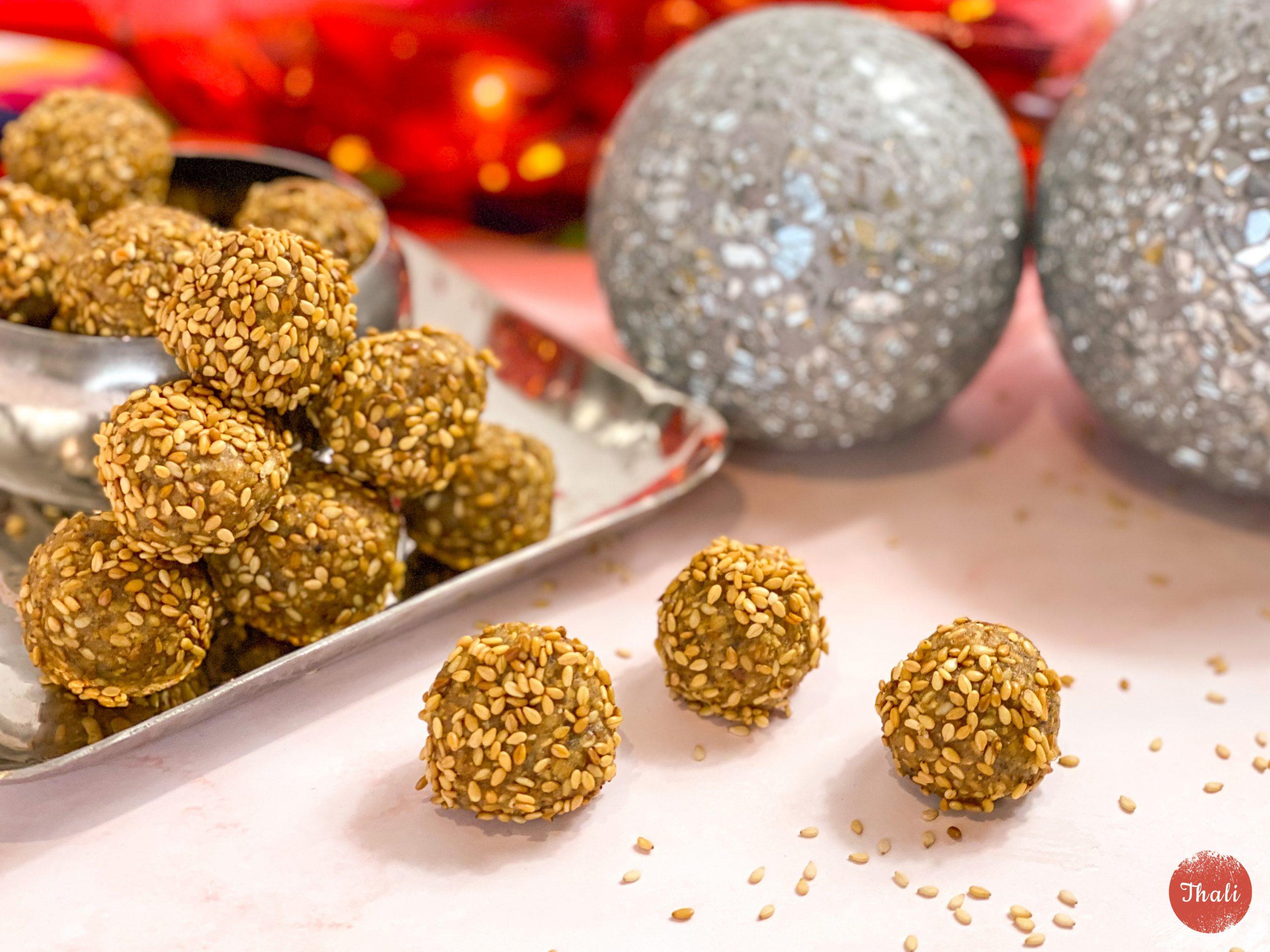 Sesame ladoos  Sesame sweet balls