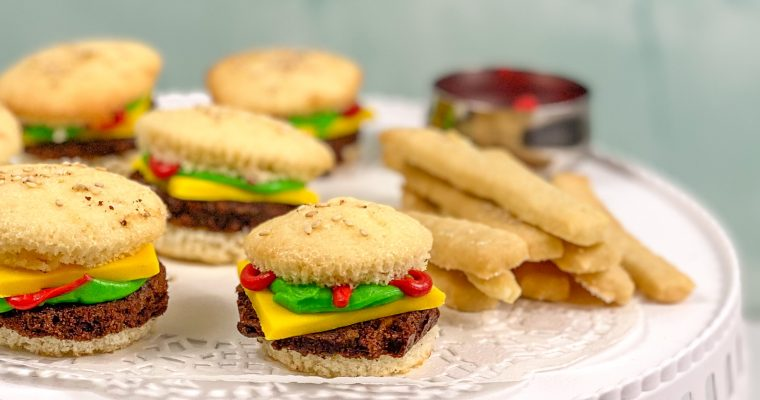Cupcake Brownie Burgers with Shortbread Fries