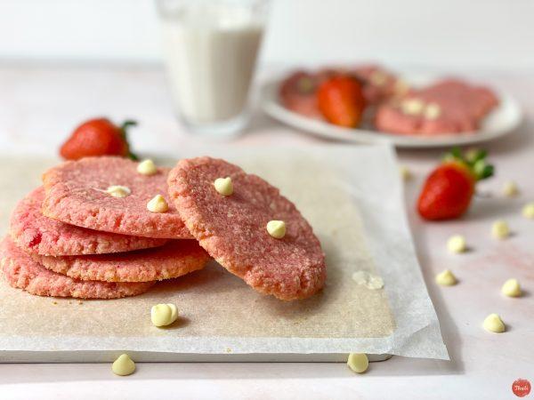 Strawberry White Choc Chip Cookies