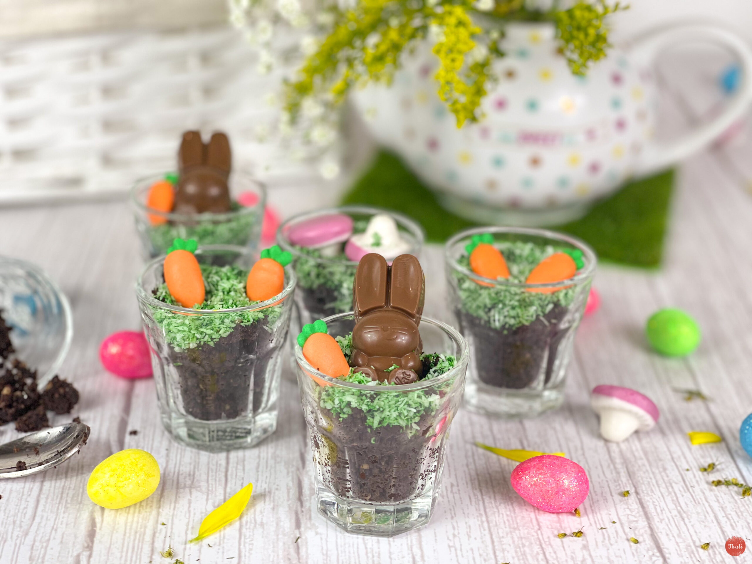 Easter Brownie Cups